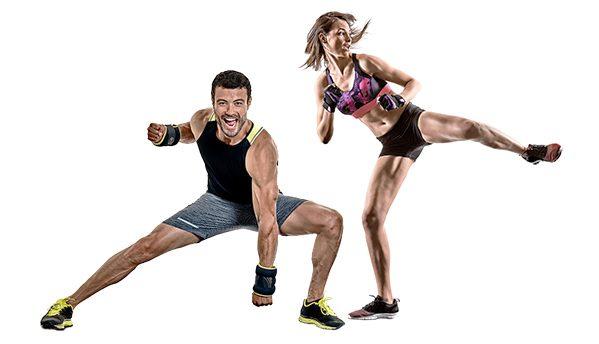 Mann und Frau im Kurs Workout